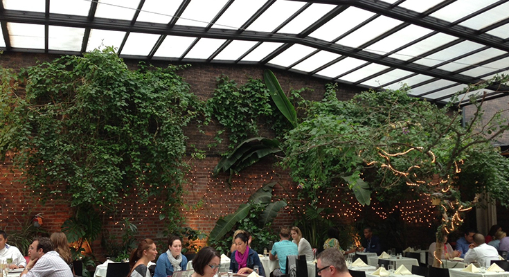 so you think you know nyc brunch in an indoor garden